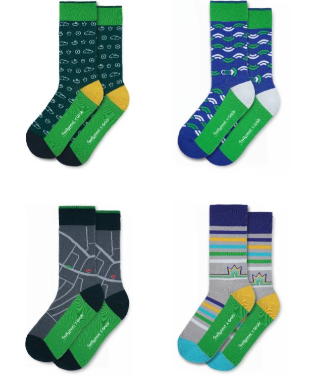 Freshly Pressed Socks x Grab